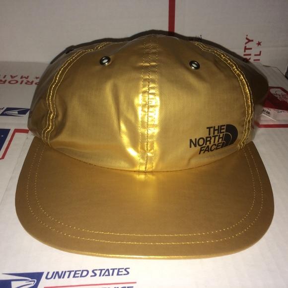 4f6ca4ba5 Supreme The North FACE Metallic GOLD Hat 2018 rare Boutique